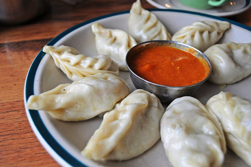 Momos and chilli sauce: an inspired combination © Katarzyna Komorek/Getty Images