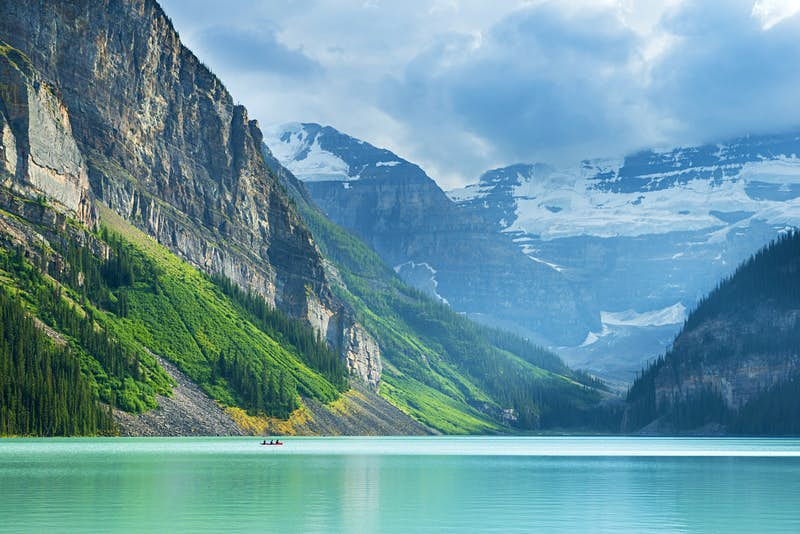 Fed by glaciers, Lake Louise is known for its turquoise hue © Justin Foulkes / Lonely Planet