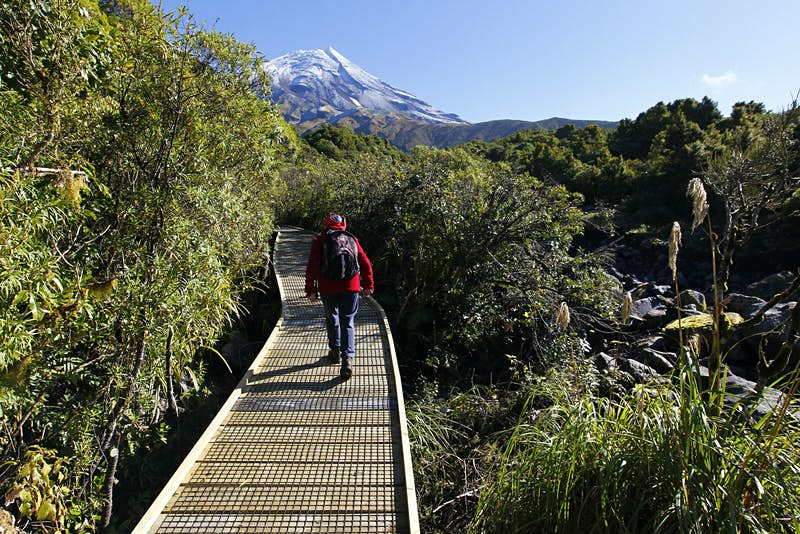 Walking to Wilkies Pools, Egmont National Park, Taranaki.