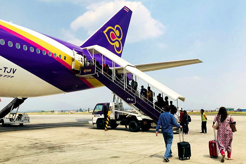 The Thai Airways flight from Bangkok carries a daily haul of Thai ingredients for Kathmandu restaurants © Lalida Boonmee/Getty Images