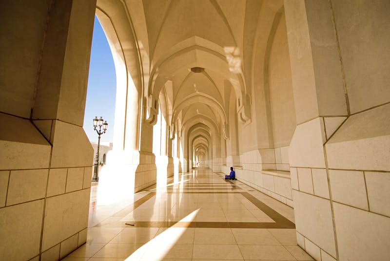 Finding a shady spot in the corridors approaching the Sultan's Palace © Jason Jones Travel Photography / Getty Images