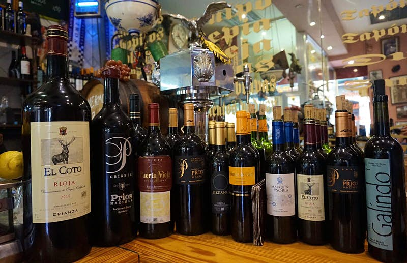 Selection of wines at Casa Toni © Daniel Welsch / Lonely Planet