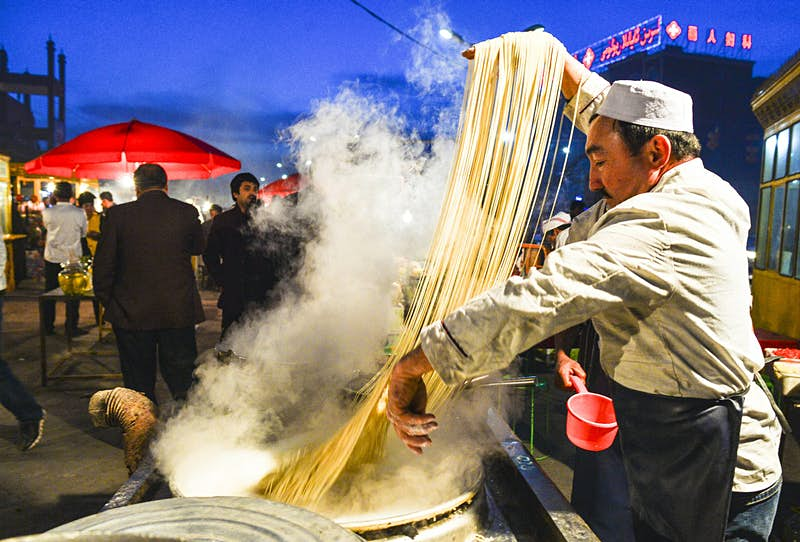 Forget 'how long's a piece of string?' – how long are these noodles!? © Xinhua News Agency / Getty Images