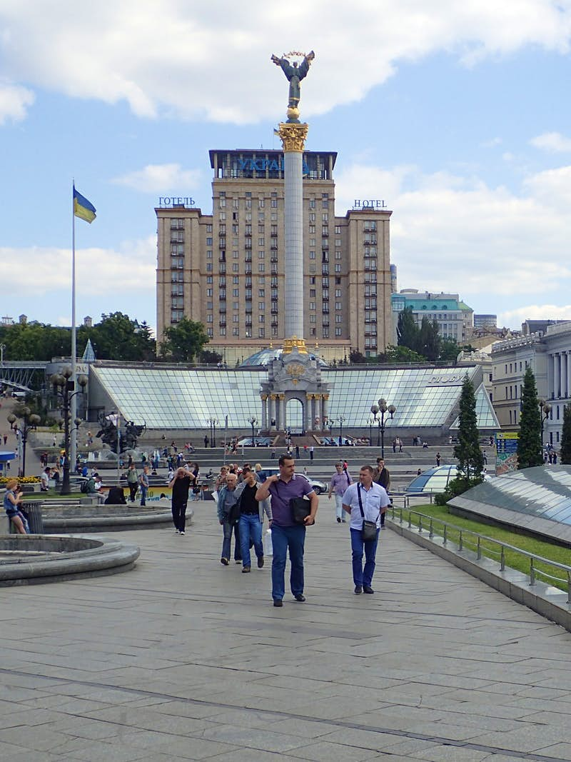 The bustling Maidan Nezalezhnosti in Kyiv © Tim Richards / Lonely Planet