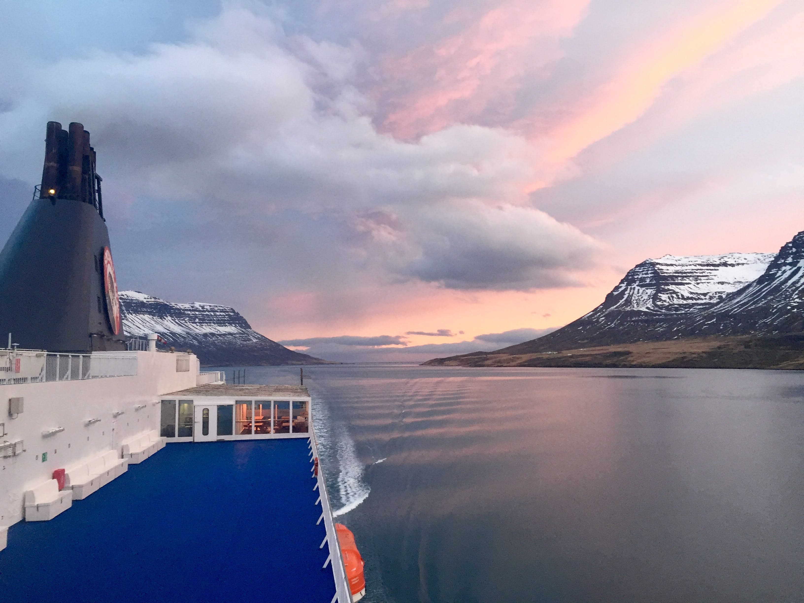 Sailing From Denmark To Iceland