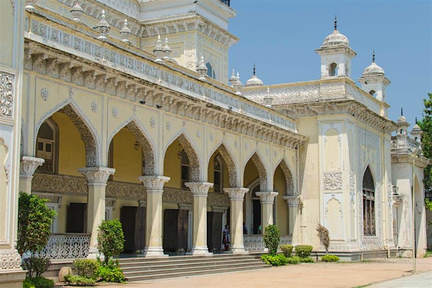 Elaborate stucco-work adorning the Chowmahalla Palace