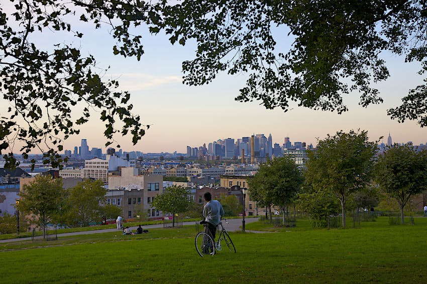 Sunset Park [pictured] offers spectacular views of the Manhattan skyline © Barry Winiker / Getty Images