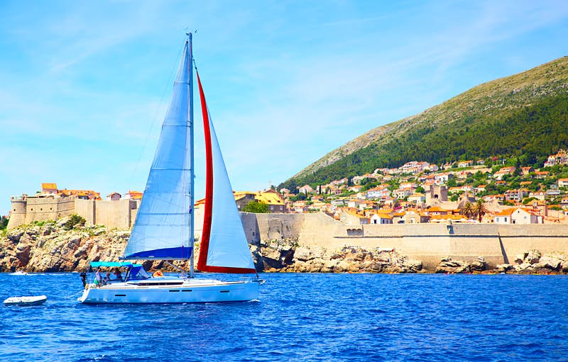 Sailing is a great way to see another side to Dubrovnik