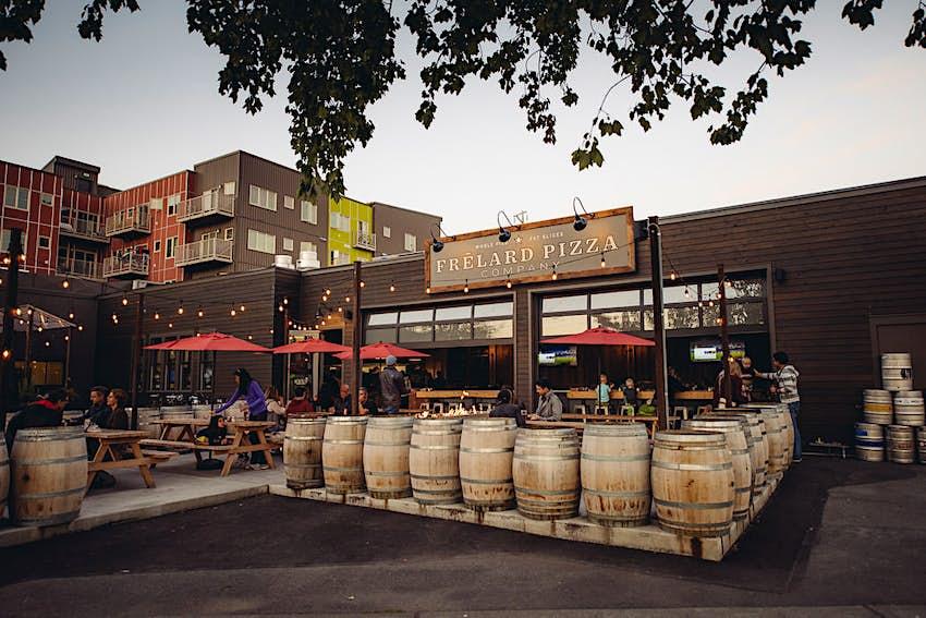 An exterior shot of Frelard Pizza Company, Seattle © Geoffrey Smith