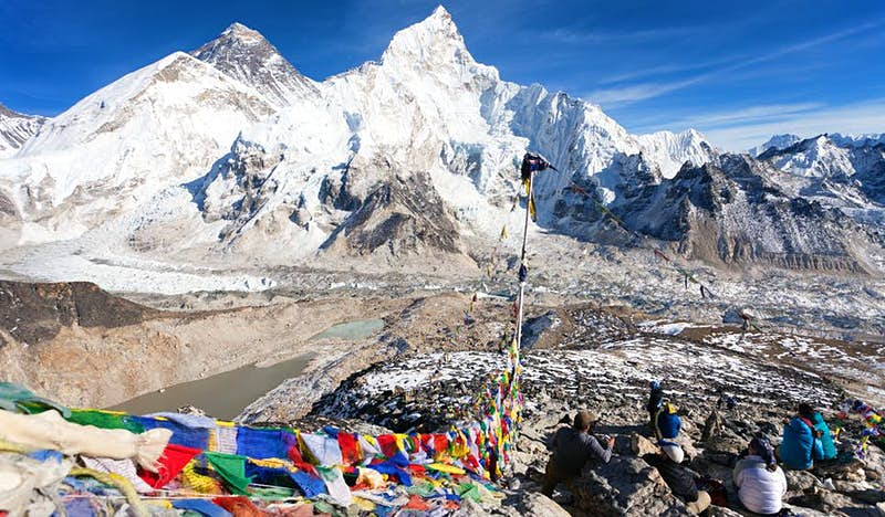 A view of Mt Everest, Lhotse and Nuptse in Sagarmatha National Park, Nepal © Daniel Prudek / Shutterstock