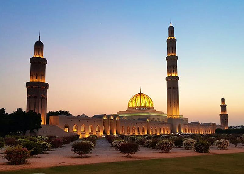 The vast Sultan Qaboos Grand Mosque in Oman's beguiling capital, Muscat © Daniel James / Lonely Planet