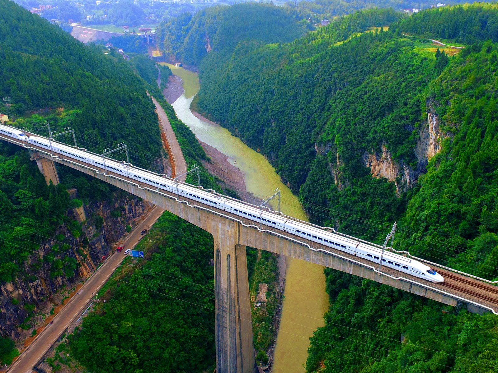 China now boasts the world's largest high-speed rail network, with more than 22,000km of track © Xinhua News Agency / Getty