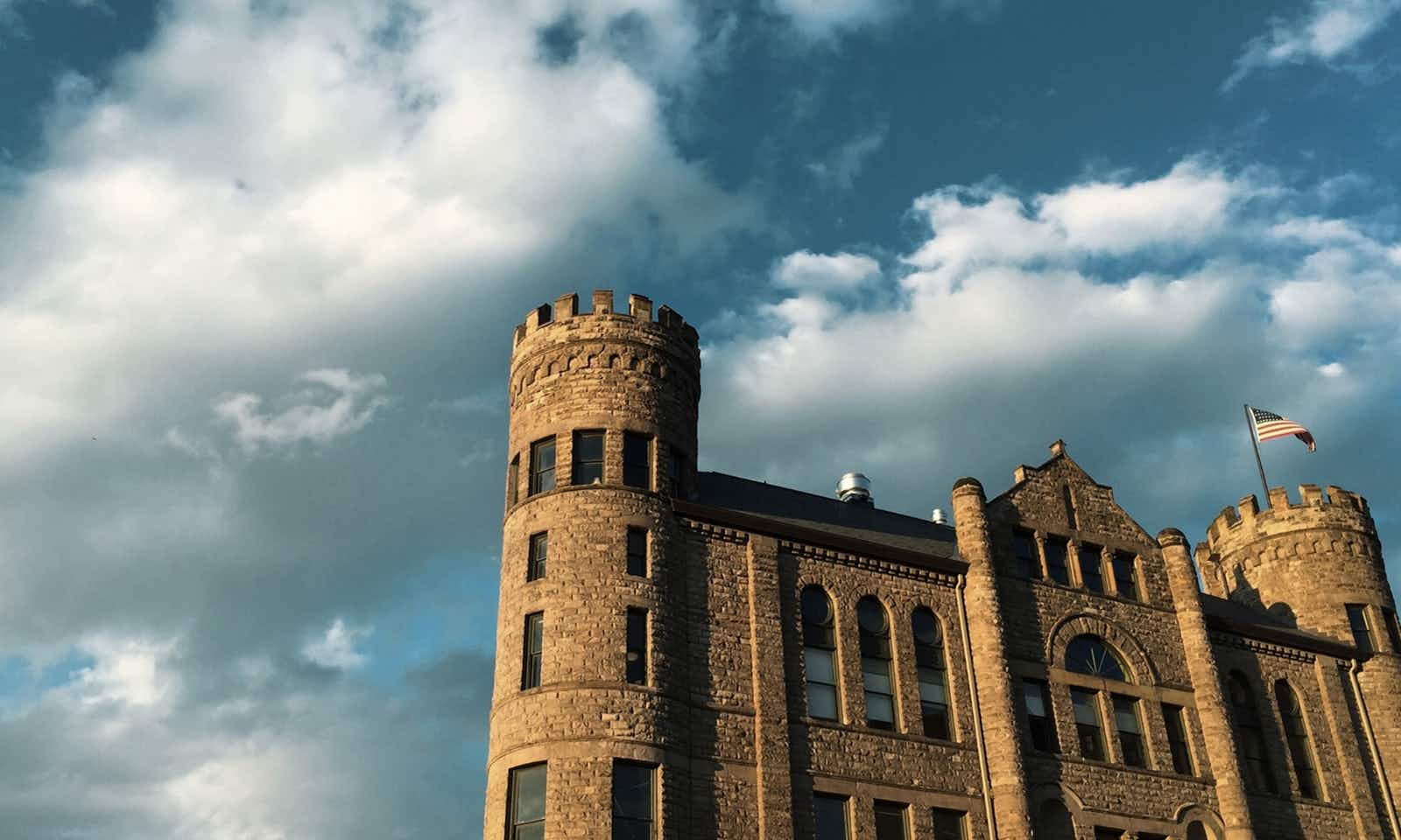 The Gothic turrets of the GAR Building make it a Motor City landmark Castle Hall