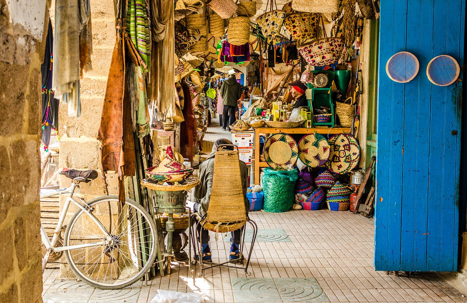 Handicrafts shop, Essaouira, Morocco. Image by Federica Gentile / Getty Images