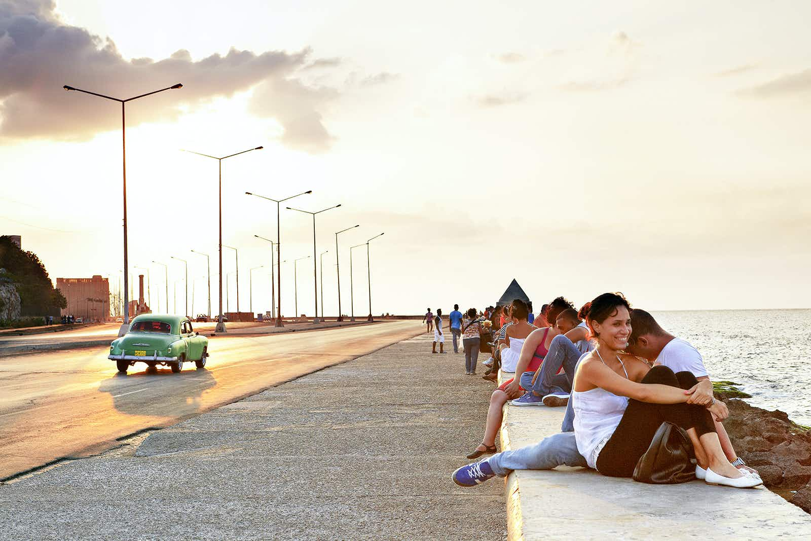 """Take a seat on Havana's """"sofa,"""" the malecón © Mark Read / Lonely Planet"""