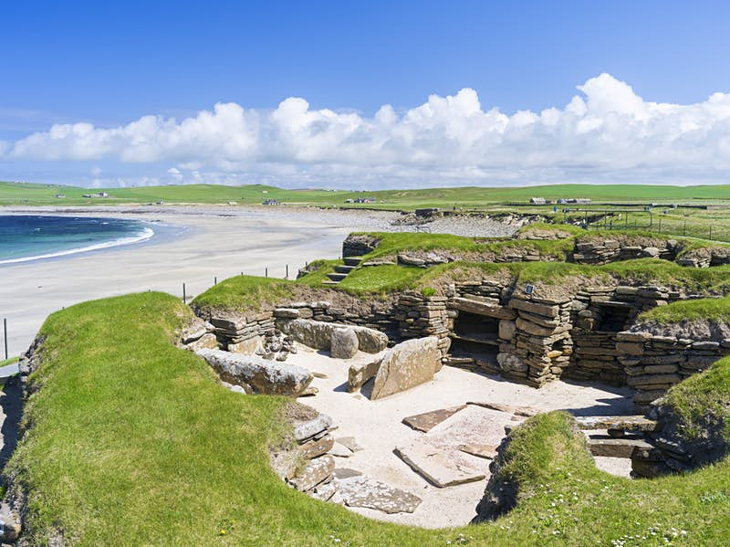 The remains of the Stone Age settlement Skara Brae, Orkney © Danita Delimont / Getty Images