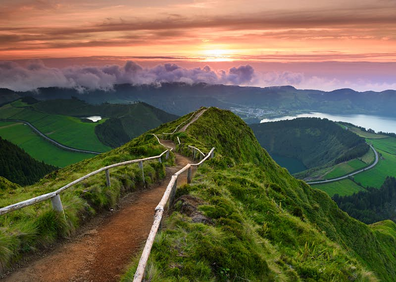 The Azores' spectacular landscape abounds with views that will stop hikers dead in their tracks ©Hiral Gosalia / Getty Images