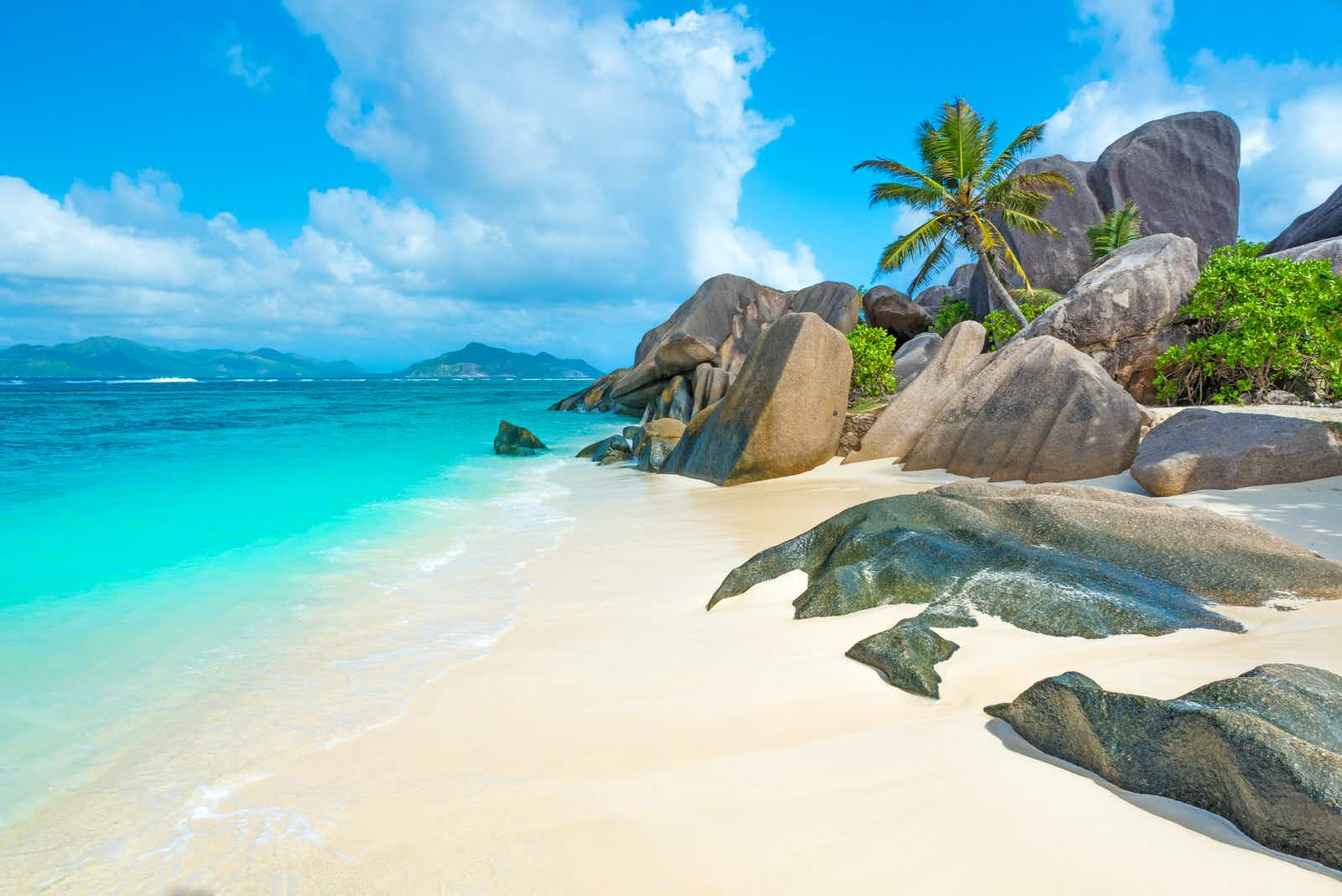 Anse Source d'Argent - beach on island in Seychelles