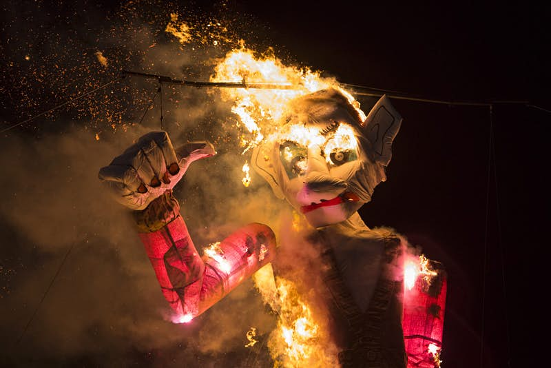 A huge marionette on fire at the climax of Santa Fe's Burning of Zozobra © Adria Malcolm / Getty Images
