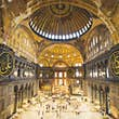 Interior of Hagia Sophia Cathedral, Istanbul, Turkey