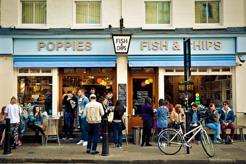 Poppies recreates a 1950s East End fish and chips shop in east London