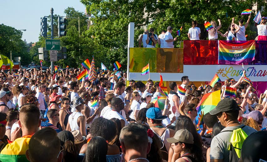 Pride in the US: A crowd gathers in Washington DC to celebrate Pride © bakdc / Shutterstock