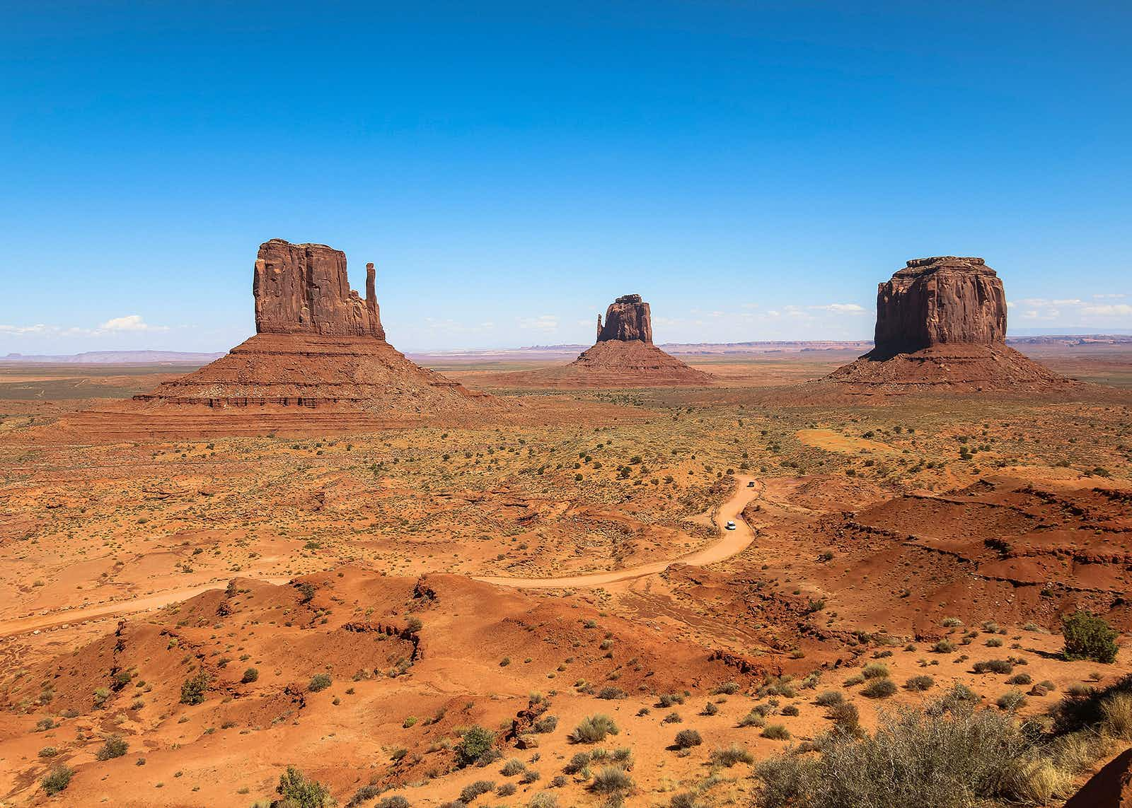 Monument Valley, view over the scenic landscape; Shutterstock ID 760516855; Your name (First / Last): James Kay; GL account no.: 65050; Netsuite department name: Online editorial; Full Product or Project name including edition: LP.com article about 'US road trips inspired by TV and movies