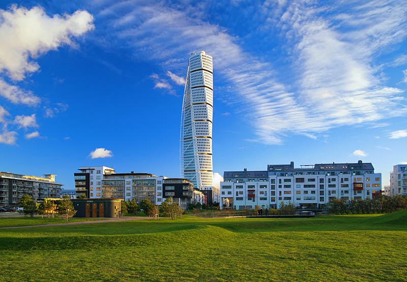 Features - Turning Torso, a residential skyscraper in Malmo, Sweden
