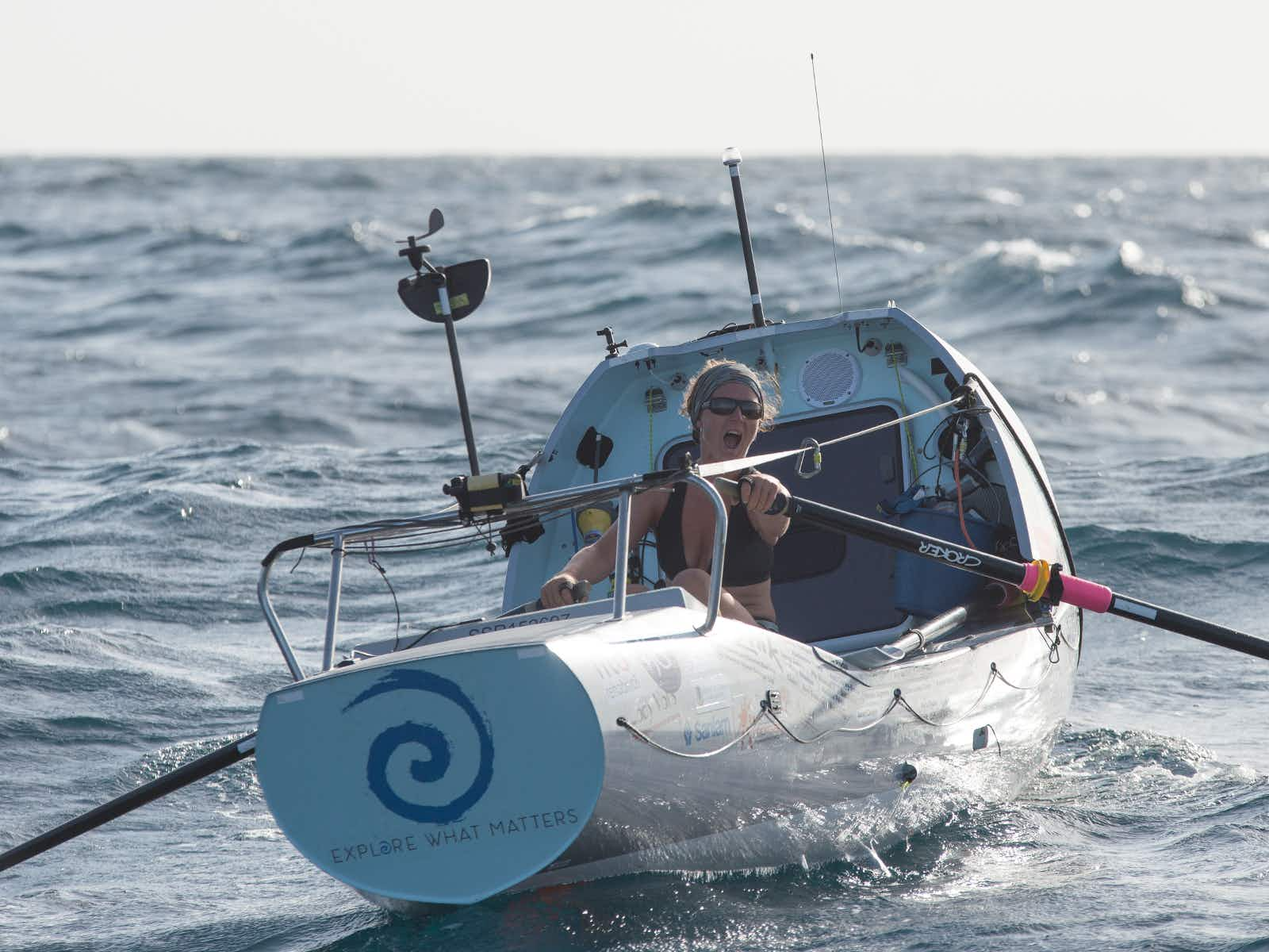 Kiko arriving at North Point, Barbados. Still with a reasonable swell but ahead of schedule.  First human interaction for 50 days.