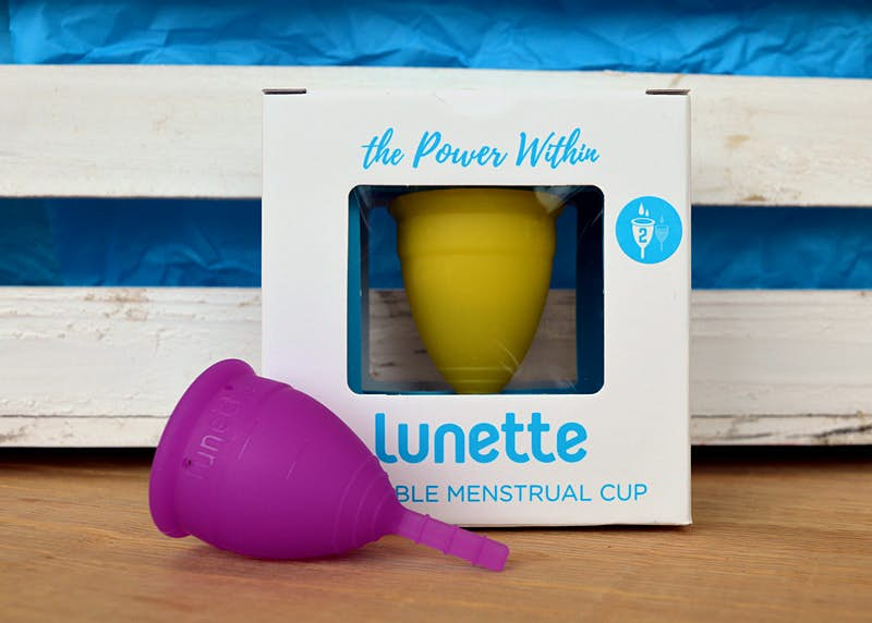 Lunette, a reusable menstrual cup © Emma Sparks / Lonely Planet