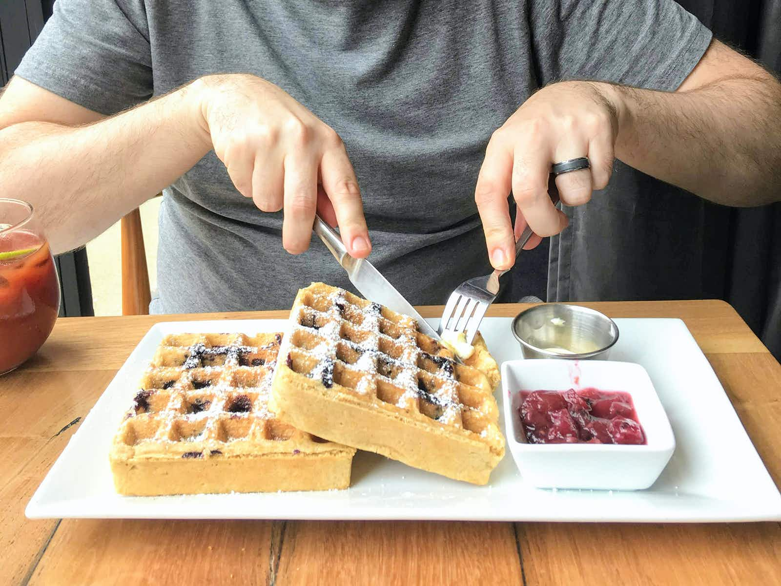 Dig in to gluten-free waffles at Wheat's End © Cate Huguelet / Lonely Planet