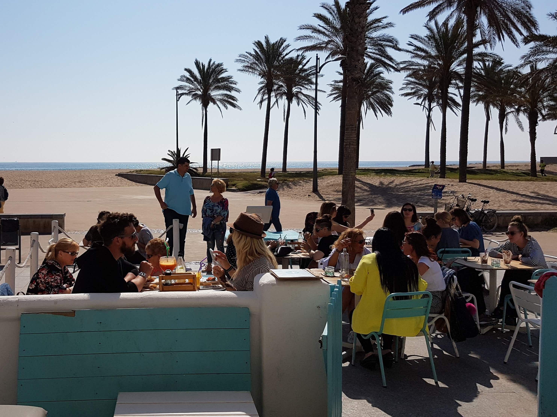 Beach view from La Más Bonita, Valencia
