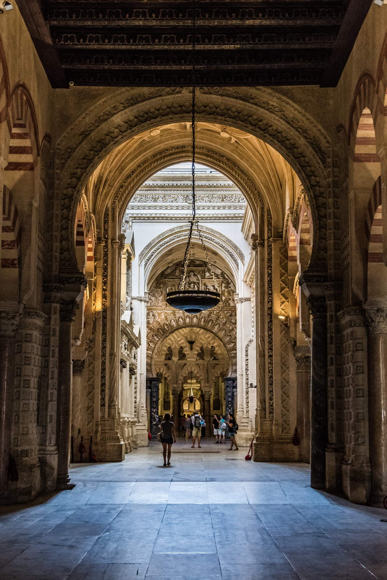 Interior of the Great Mosque and Cathedral of Cordoba