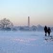 Phoienix Park Dublin in winter