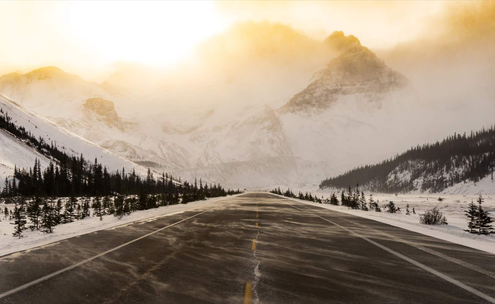 As the highest and most spectacular road in North America, the Icefields Parkway takes you about as close as you're going to get to the Rockies' craggy summits in your vehicle © Jonny Bierman / Lonely Planet