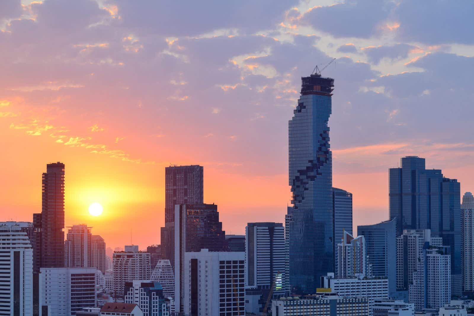 Bangkok, Thailand cityscape at sunrise
