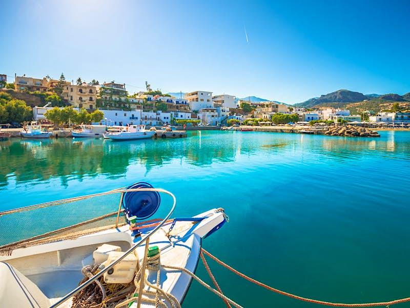 Adventure awaits at the quiet harbour of Makrygialos village in southern Crete©Georgios Tsichlis/ Shutterstock