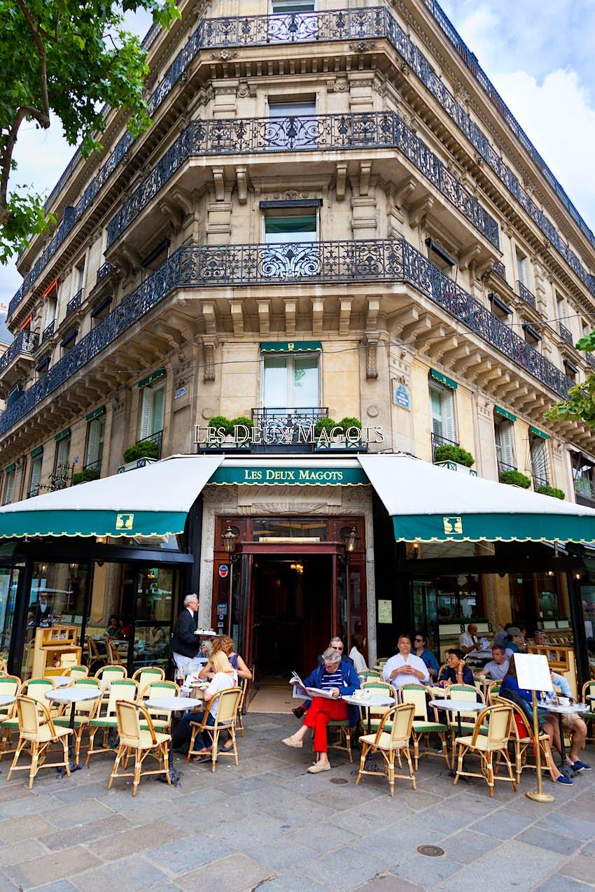 Cafe Les Deux Magots, Paris