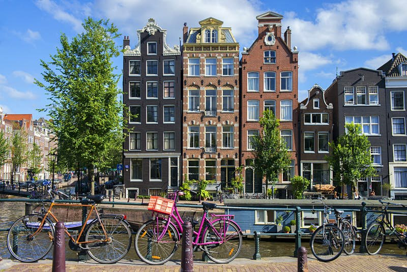 Traditional buildings in Amsterdam