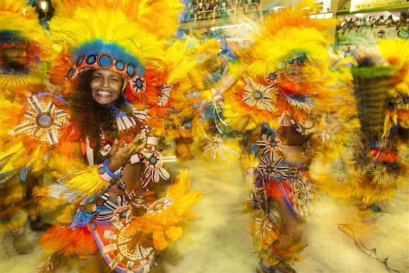 Carnival performers in Rio de Janeiro, Brazil