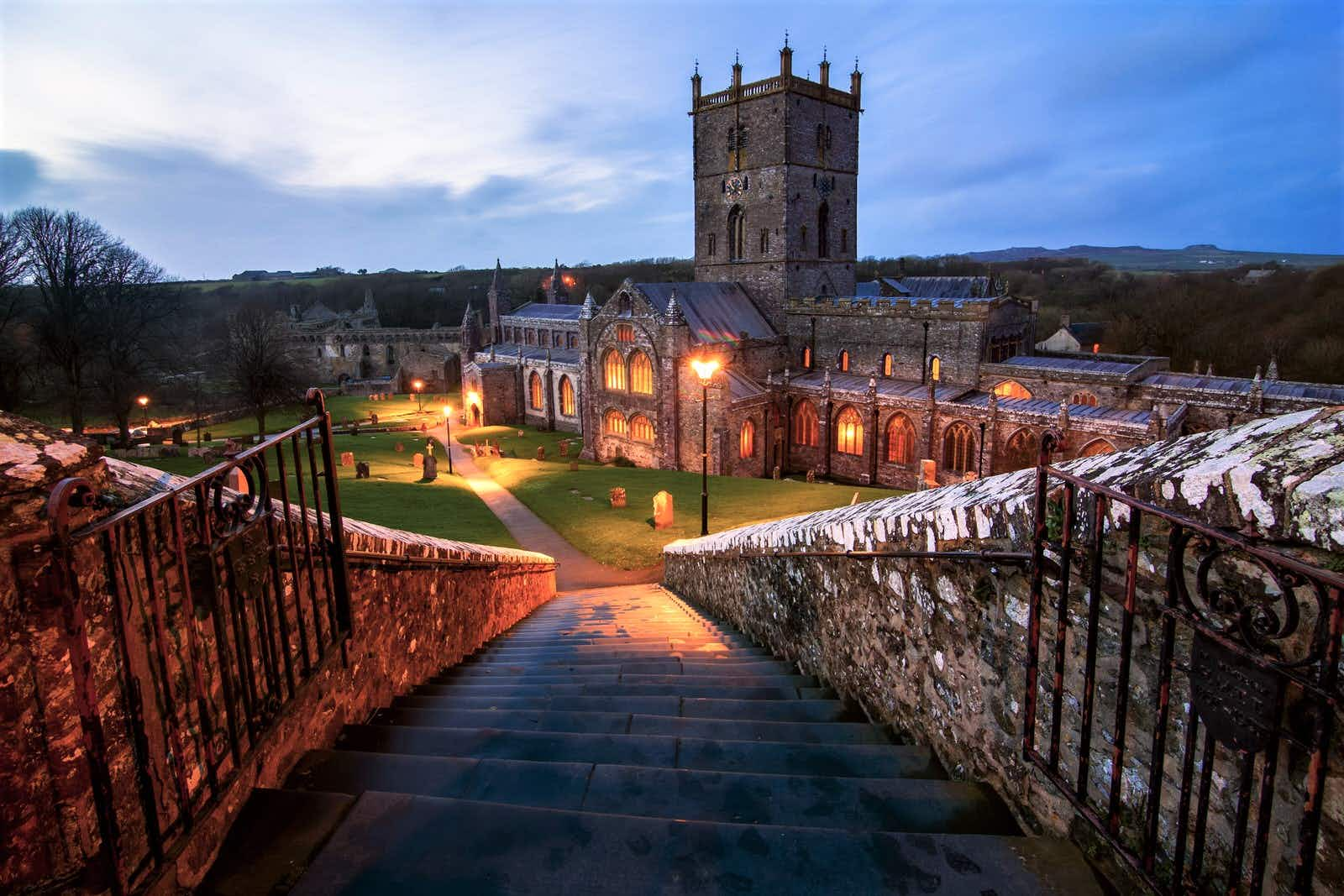 St Davids Cathedral at twilight