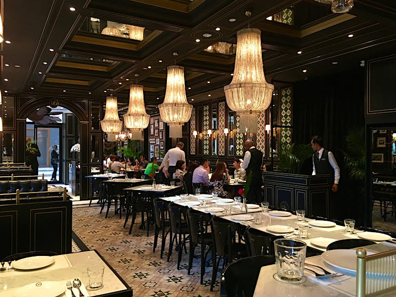 The dining room at National Kitchen by Violet Oon restaurant in Singapore