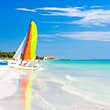 Scene with sailing boat at the famous Varadero beach , Caribbean sea in Cuba; Shutterstock ID 158460236; Your name (First / Last): William Broich; GL account no.: 65050; Netsuite department name: Editorial ; Full Product or Project name including edition: Cuba's Best Beaches