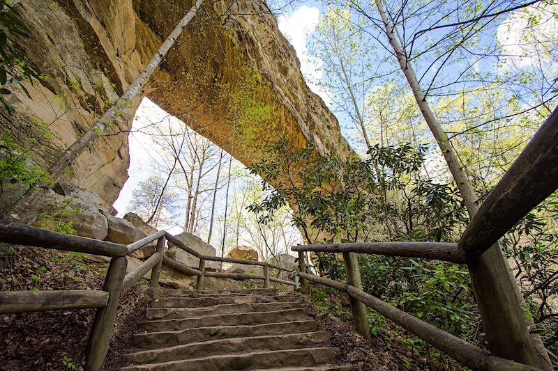 Features - Stone Arch At Natural Bridge State Park In Kentucky