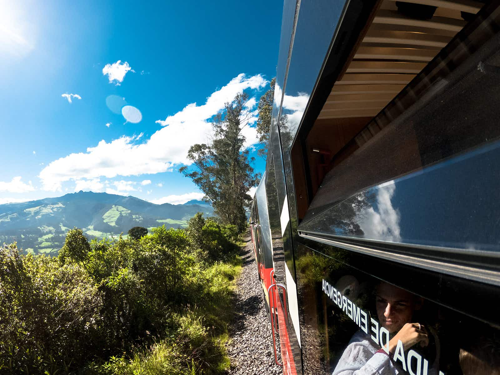 Glide along the tracks winding through the Avenida de los Volcanes with Tren Ecuador © Jonny Bierman / Lonely Planet