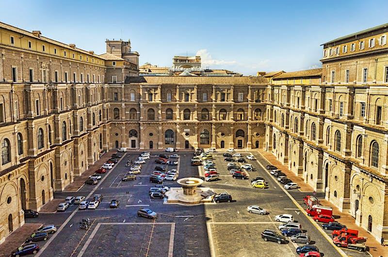 The Vatican's Cortile del Belvedere (Belvedere Courtyard)