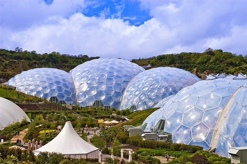 The biodomes of the Eden Project