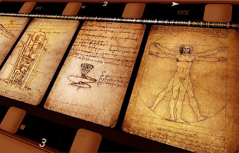 Anatomical sketches from Leonardo da Vinci's notebooks