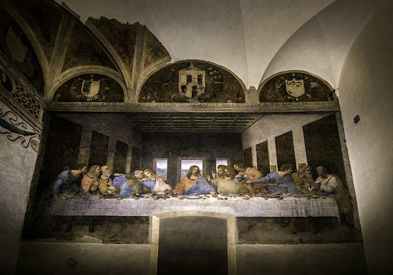 Leonardo Da Vinci's The Last Supper in the Santa Maria delle Grazie in Milan, Italy