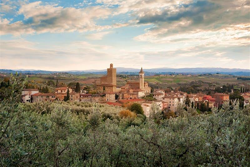 A panoramic view of Vinci, Tuscany